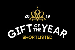 A logo showing that we have been shortlisted for Gift of the Year