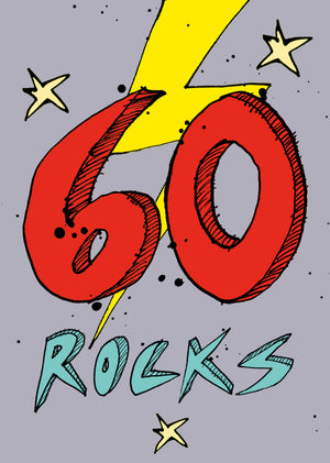 Load image into Gallery viewer, '60 Rocks' A4 card FP714
