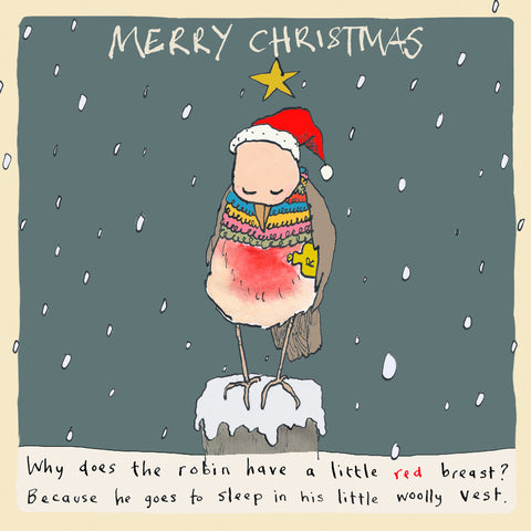 Robin's Vest Christmas Greetings Card FP1014