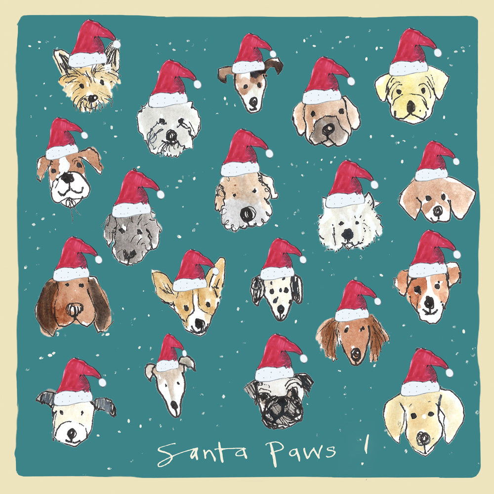 Santa Paws Christmas card FP1015