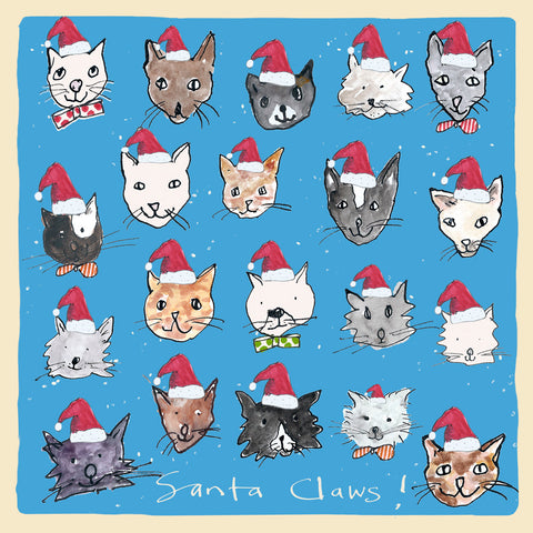 Santa Claws Christmas card FP1016