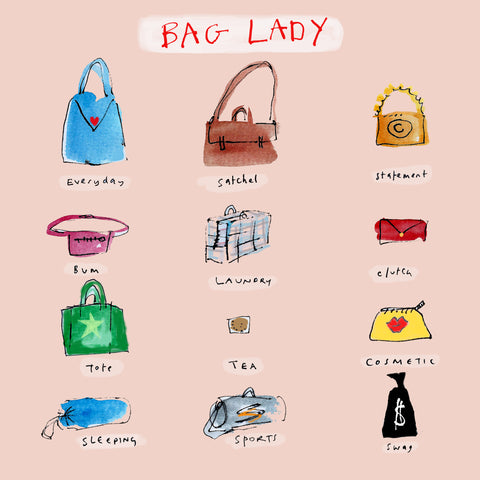 'Bag Lady' Greetings Card