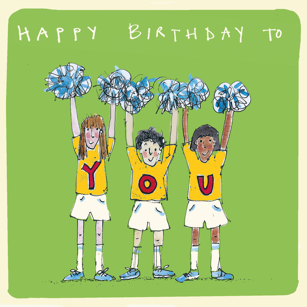 'Cheerleaders' Birthday Card, Studio