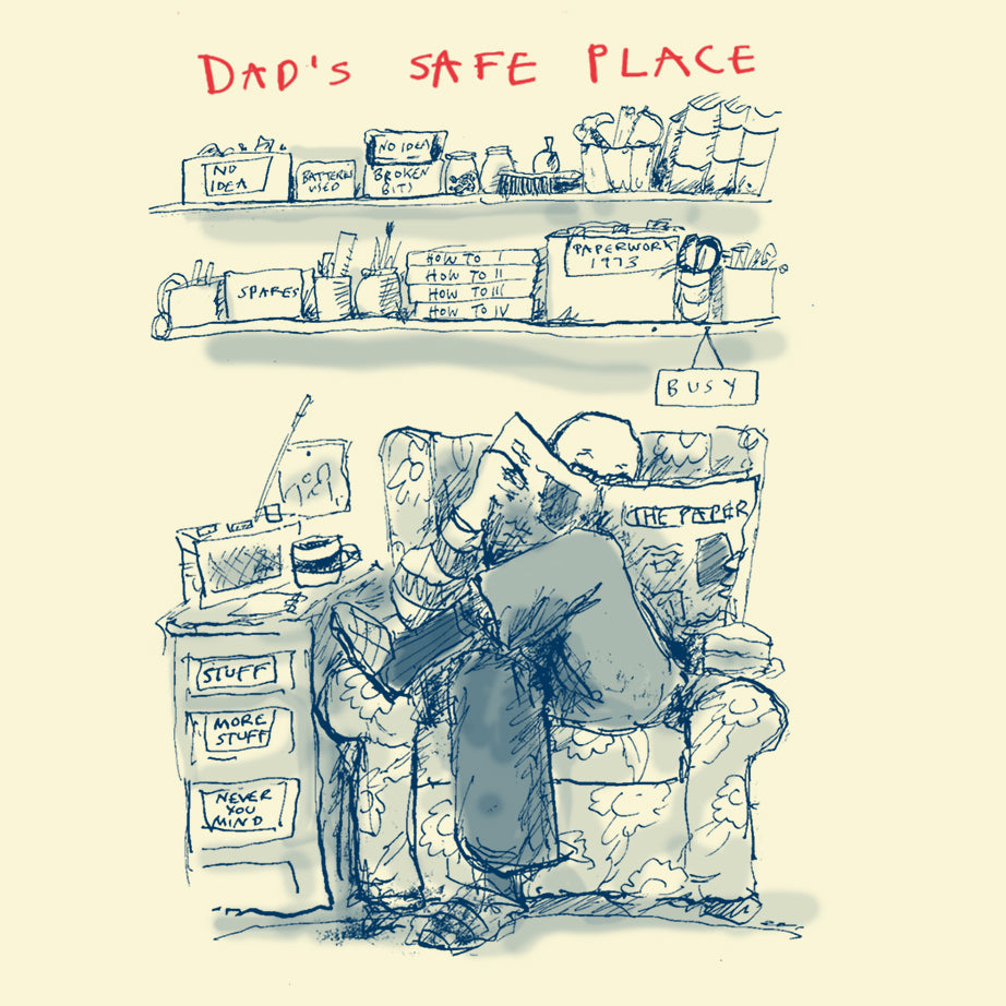 'Dad's Safe Place' Greetings Card