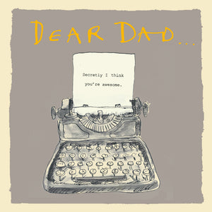 Load image into Gallery viewer, 'Dear Dad Typewriter ' Greetings Card