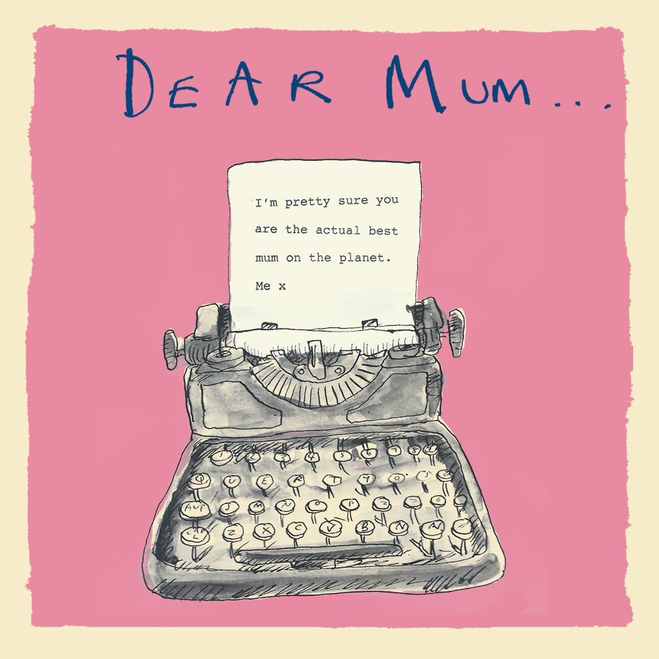 'Dear Mum' Greetings Card