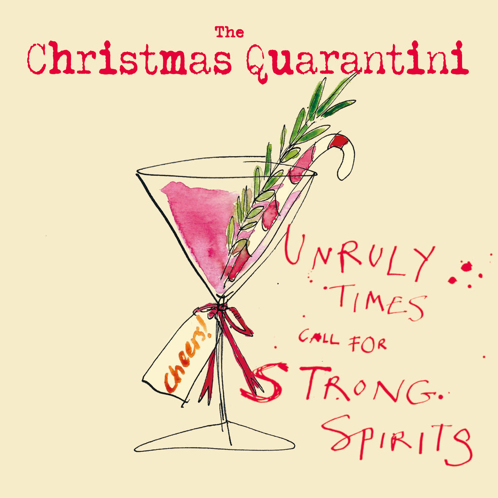 'Christmas Quarantini' Christmas Card