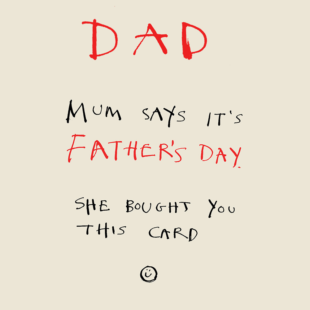 'Father's Day Scrawl' Greetings Card