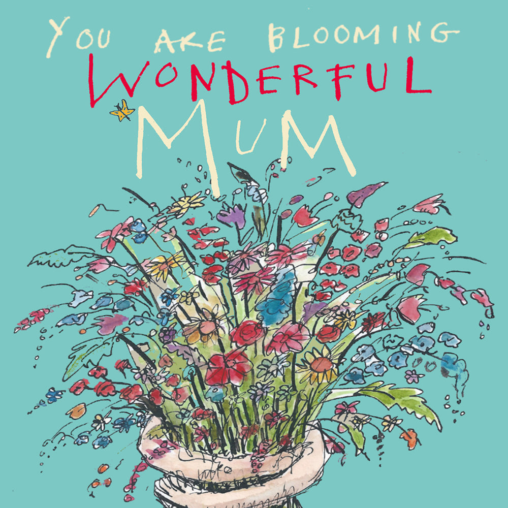 'Blooming Wonderful mum' Greetings Card