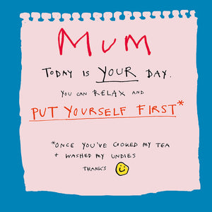 Load image into Gallery viewer, 'Mum, Make My Tea ' Greetings Card