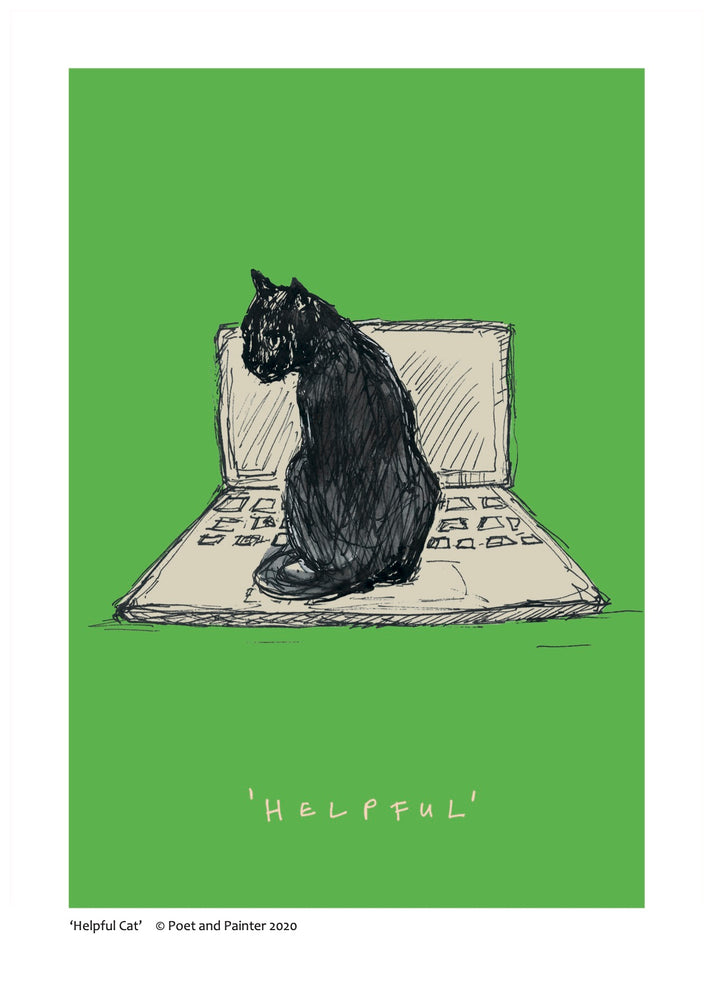 Load image into Gallery viewer, 'Helpful Cat' Art Print