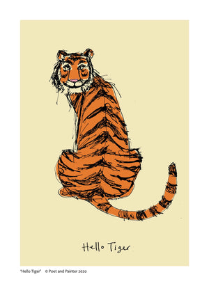 Load image into Gallery viewer, 'Hello Tiger' Original Art Print