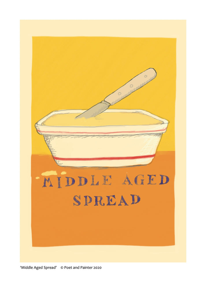 'Middle Aged Spread' Original Art Print