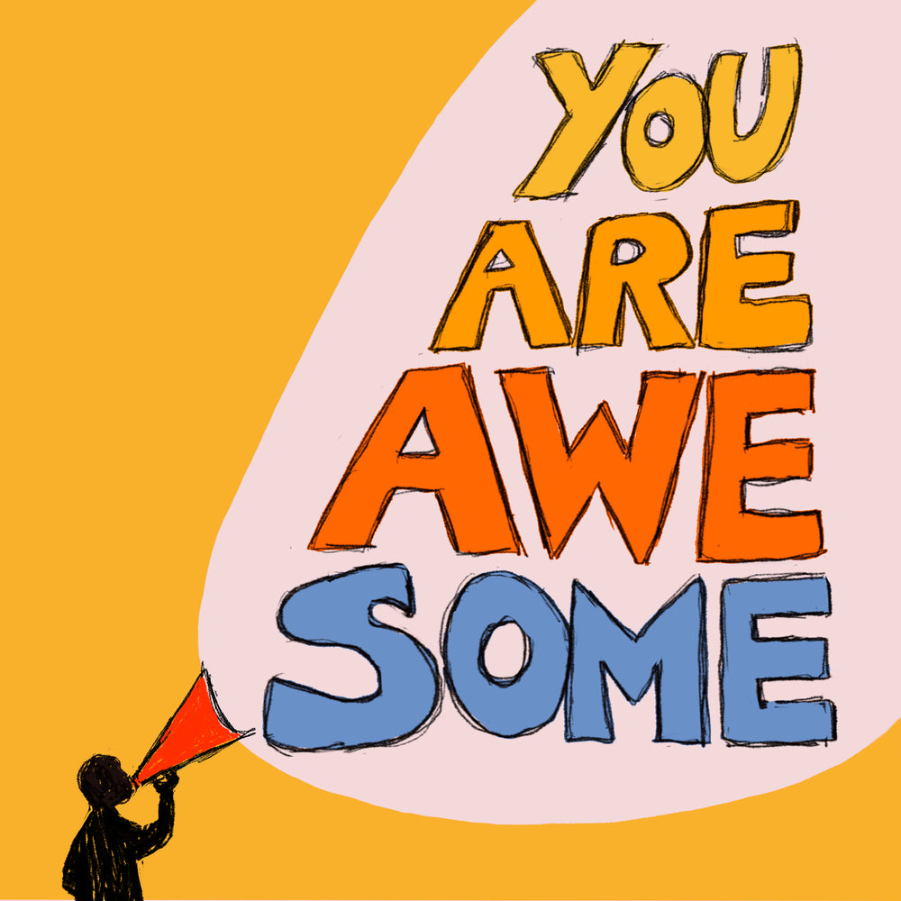 'You Are Awesome' Greetings Card