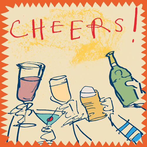 Load image into Gallery viewer, 'Cheers Glasses' Greetings Card