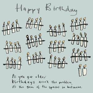 Birthday Candles FP130Poet & PainterCards
