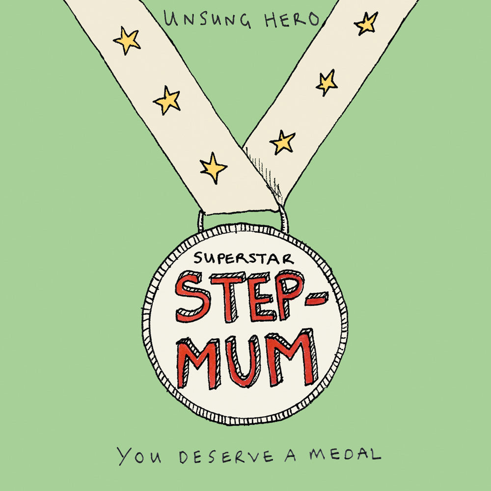 Step Mum  Card FP165Poet & PainterCards