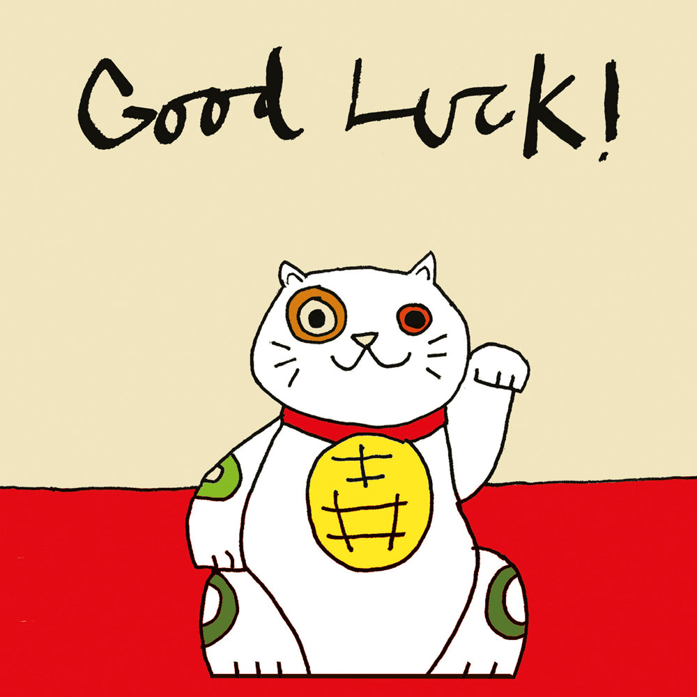 Good Luck Cat FP215Poet & PainterCards