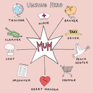 Unsung Hero Mum, FP446Poet & PainterCards