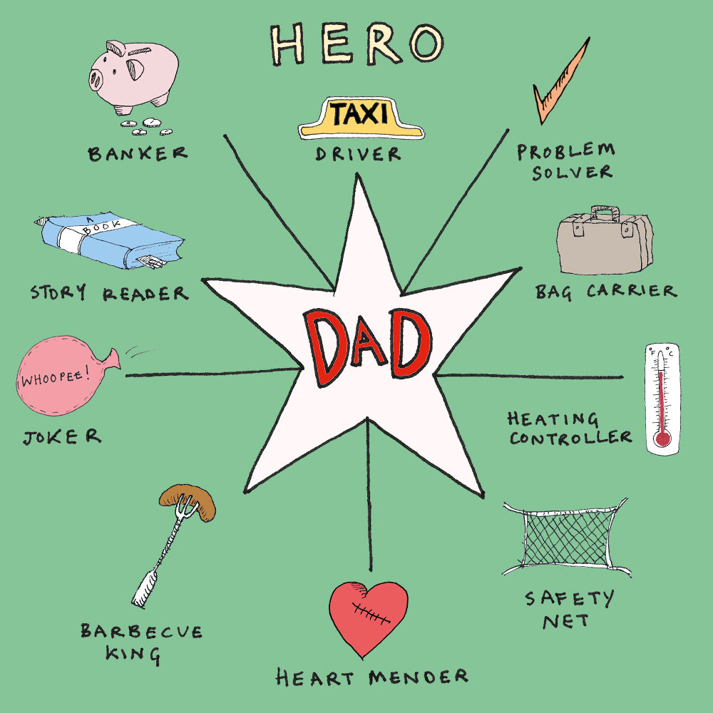 Hero Dad, FP456Poet & PainterCards