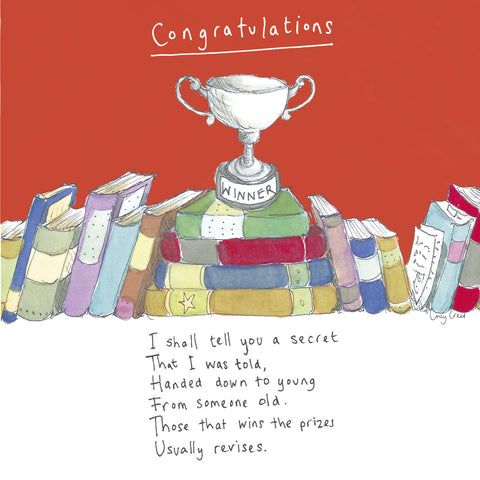 Congratulations (red) FP46Poet & PainterCards