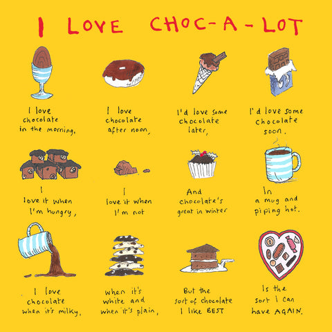 I Love Choc-a-lot FP601Poet & PainterCards