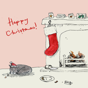 Happy Christmas, Naughty Kitty FP682Poet & PainterCards