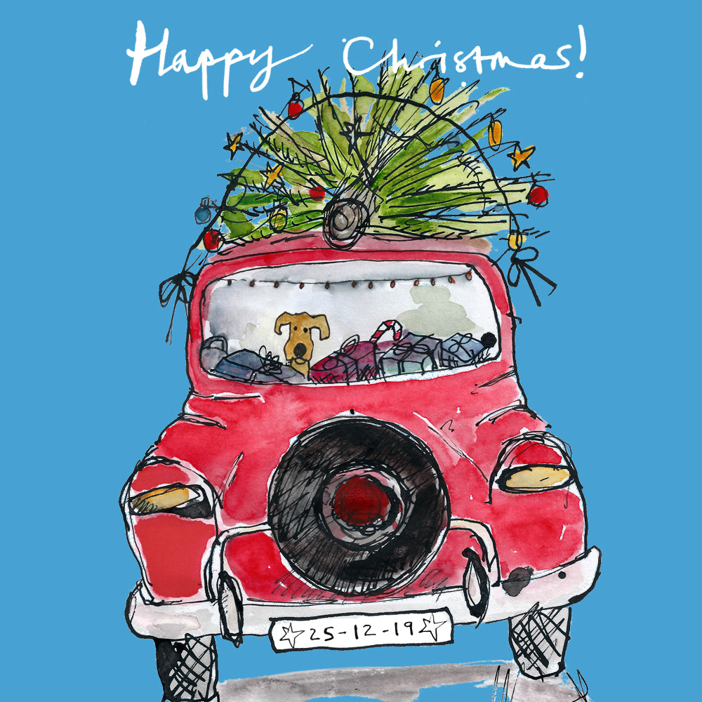 Christmas Car FP684Poet & PainterCards