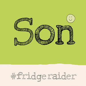 'Son' 'fridge raider' Hashtag FP696Poet & PainterCards