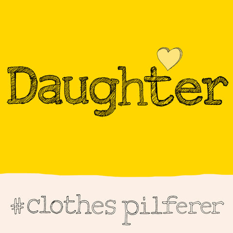 'Daughter' Hashtag FP697Poet & PainterCards