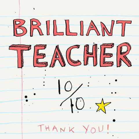 FP707 Brilliant  TeacherPoet & PainterCards