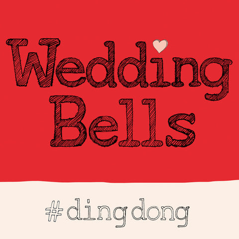 FP720 Wedding Bells Hashtag cardPoet & PainterCards