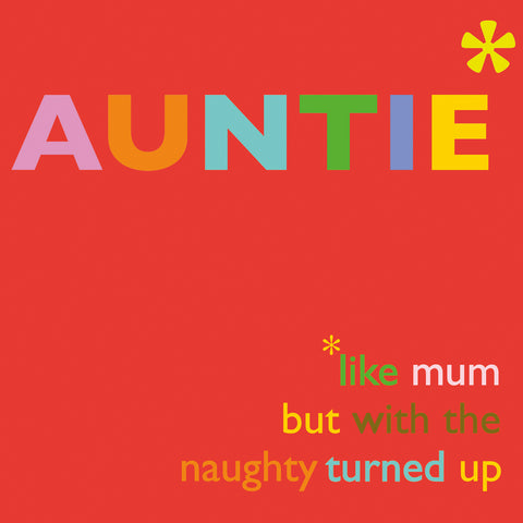 'Auntie' Greetings Card