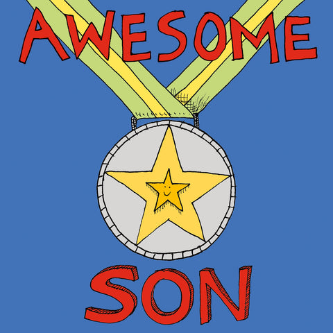 FP725, 'Awesome Son' medal cardPoet & PainterCards