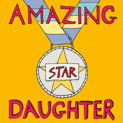 FP726, 'Amazing Daughter' medal cardPoet & PainterCards