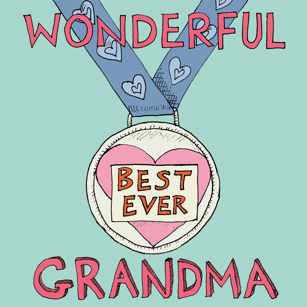 FP727 'Wonderful Grandma' cardPoet & PainterCards