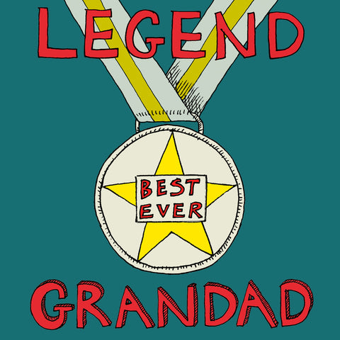 FP728 'Legend Grandad' cardPoet & PainterCards