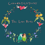 FP731 Garland 'Love Birds' cardPoet & PainterCards