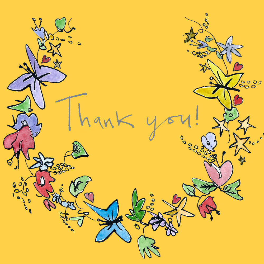 'Thank you' Greetings Card, Garland