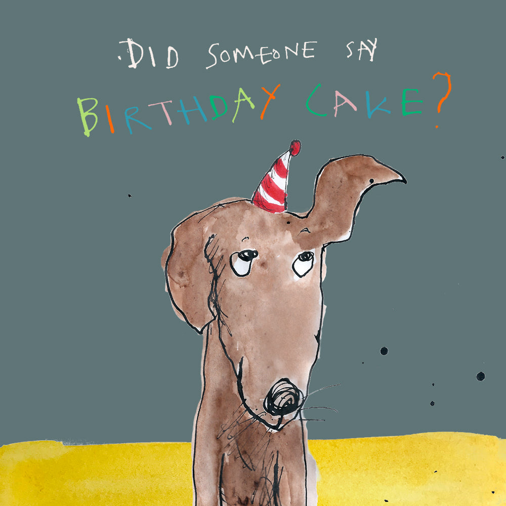 'Birthday Cake' Birthday Card