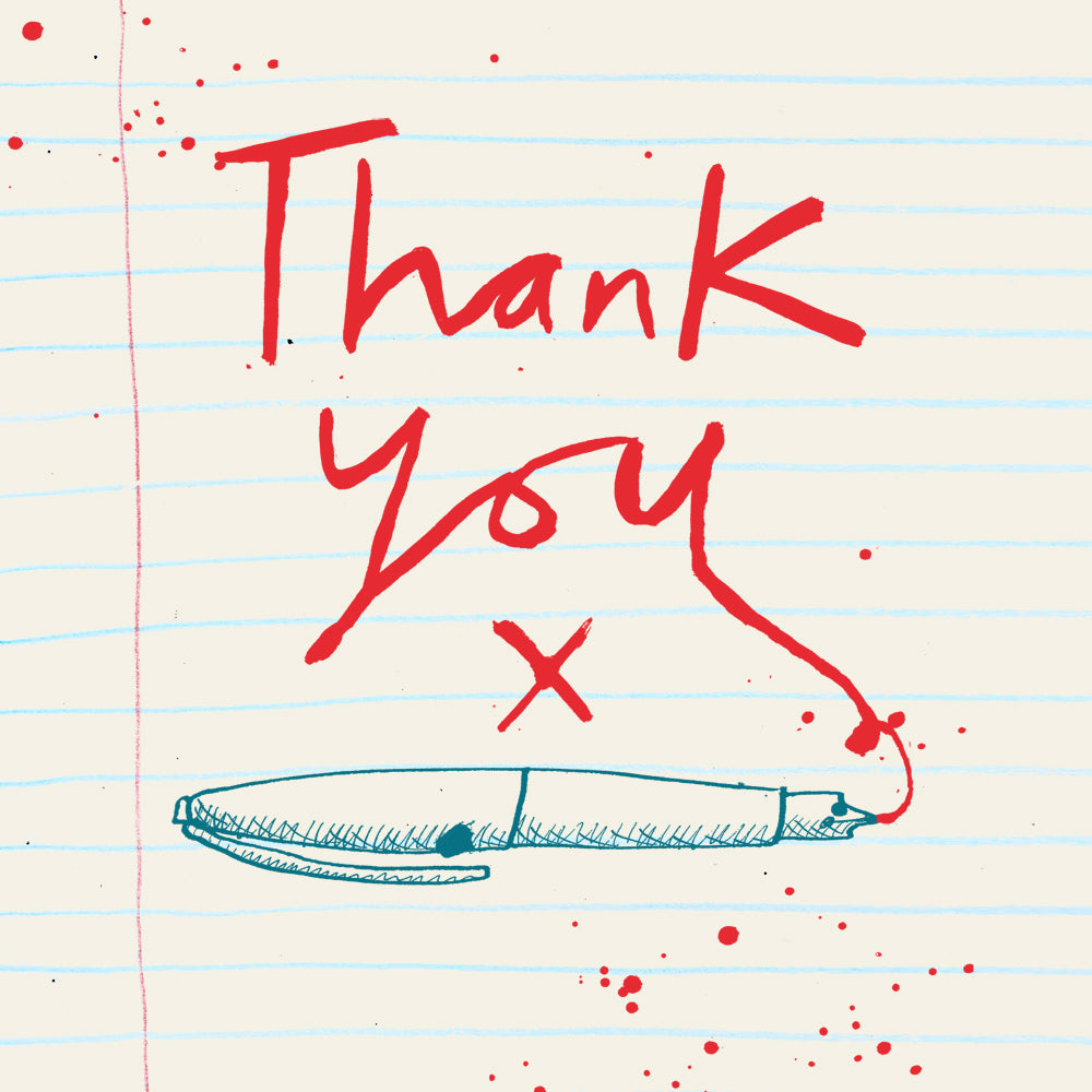 'Thank You Red Ink' card, FP748