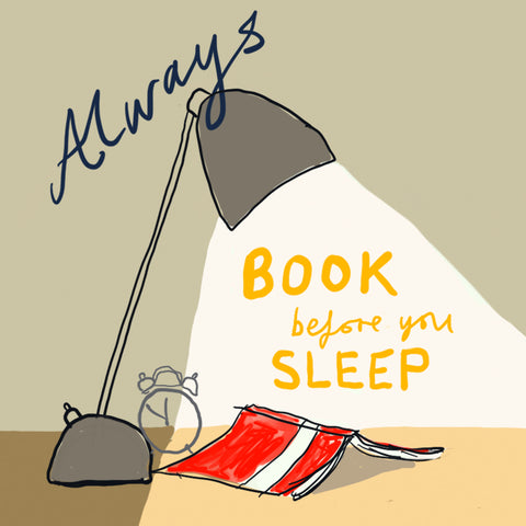 'Book Before Sleep' card FP749