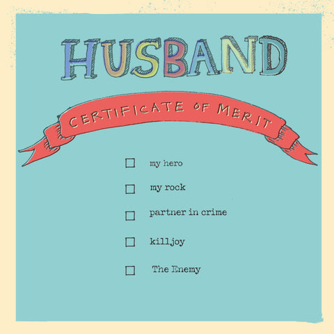 'Husband Certificate of Merit' card, FP750