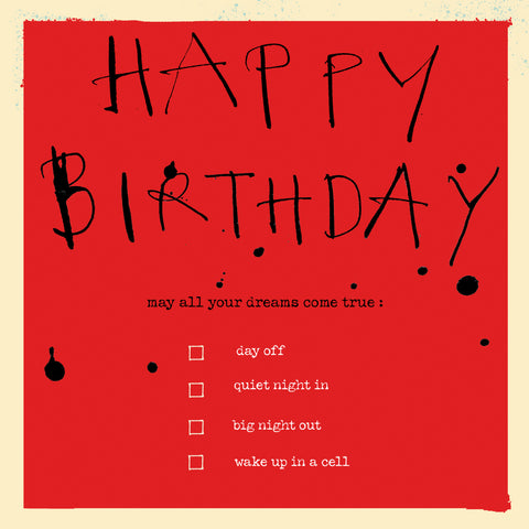 'Happy Birthday Checklist' card FP752