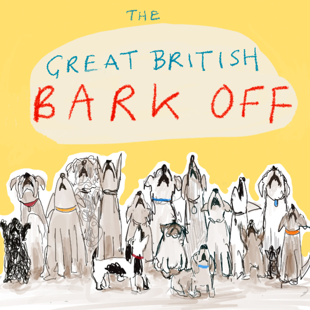 Load image into Gallery viewer, 'The Great British Bark Off' Greetings Card