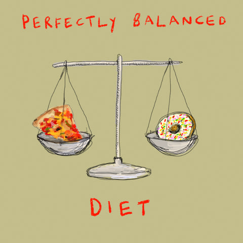 'Perfectly Balanced Diet' card FP762