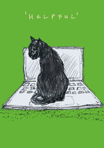 Helpful Cat Postcard, FP779