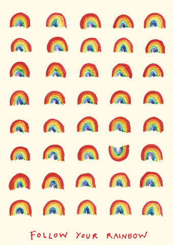 Follow Your Rainbow postcard, FP789