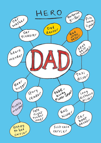 Dad Hero postcard, FP793