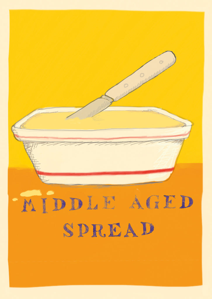 Middle Aged Spread postcard, FP798